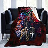Flannel Plush Throw Blanket, American Hip Hop Duo Composed ICP In-sa-ne Cl-own Po-s-se Throw Blankets For Better Sleep, Microfiber Blanket, Super Cozy And Anti-Static Air conditioning blanket 50'X 40'