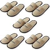 Outflower. 5pcs Zapatillas Algodon Zapatillas de Casa Zapatillas de Hotel, Casa de Recibiendo Invitados