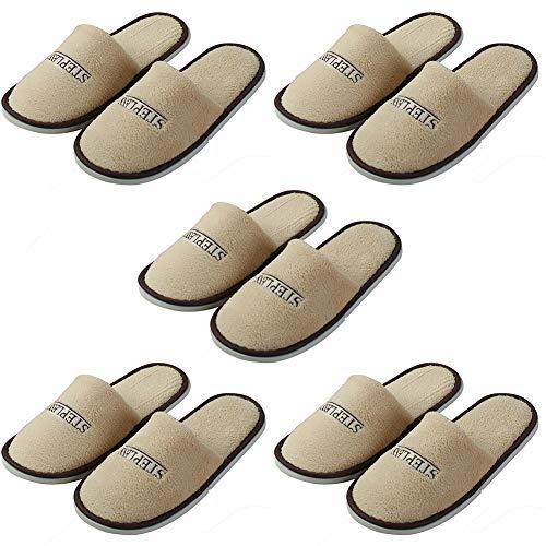 Toruiwa - Zapatillas de estar por casa para mujer caqui