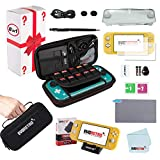 Complete Starter Kit for Nintendo Switch Lite with Tempered Glass Screen Protector, Travel Case, Foldable...