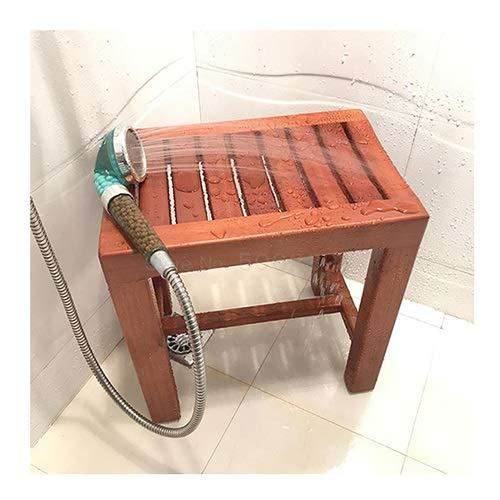 Ducha Banco, Madera De Caucho Taburete, Protección del Medio Ambiente Pintar Impermeable Antideslizante Totalmente Ensamblado para Inodoros, Hotel, Sauna, SPA LSXIAO