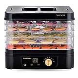 MIAOYO Máquina de deshidratador de Alimentos eléctricos de 5 bandejas con Controlador de Temperatura, Profesional y Temporizador Digital Multi-Tier Fuera PRESANADOR Fruta-FRUTER SECADOR