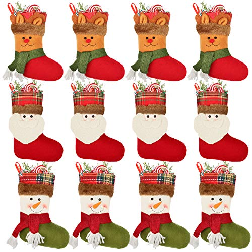 Aiduy Set of 3 Christmas Stockings 18' with Cute 3D Plush Swedish Gnome Xmas Stockings for Fireplace Hanging Christmas Decorations and Party Decor