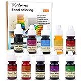 Colorante de alimentos Cepillo de aire líquido concentrado Flo de colorante alimenticio - 10 colores