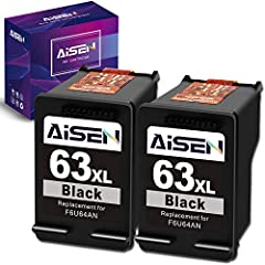 Packaged Contents: Remanufactured ink cartridges for hp ink cartridge 63 (2 Black) Remanufactured ink cartridges hp 63 work with: HP OfficeJet 5255 5258 5260 5200 4650 4652 3830 3831 3832 3833 3834 4652 4654 4655, ENVY 4520 4510 4512 4513 4516 4517 4...