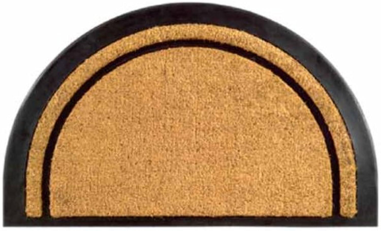 Imports Decor 722RBCM York Half Round Rubber Back Coir Doormat, 20 x 32