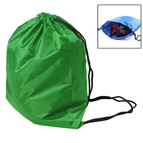 BINGONE Folding Sport Backpack Nylon Drawstring Bag Home Travel Storage Use Green