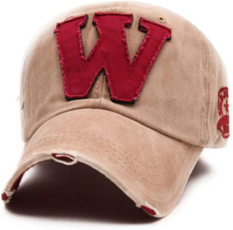JINRMP Women Men Vintage Cap Cotton Washed W Baseball Cap Men's Distress Snapback Hat for Male Female Curved Sun Hats