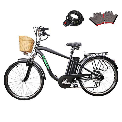 Nakto 250W Shimano 6-Speed Gear Electric Bicycle...