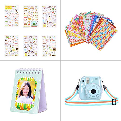 Bsuuy Instax Mini 9 Camera Accessories Bundles Compatible with FujiFilm Instax Mini 9 Mini 8 Mini 8+ Camera with Mini 9 Case, 108 Pocket Soft Leather Album, Filters, etc (12 in 1 Ice Blue)
