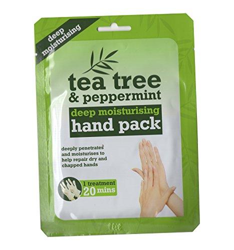 Tea Tree & Peppermint Deep Moisturising Hand Pack - Deep Moisturising Hand Treatment, [Importé du Royaume-Uni]