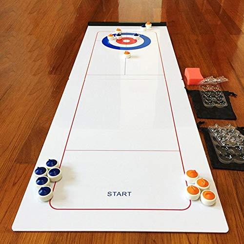 Chirsemey Mini Desktop Eishockey, Curling Spiel Tabletop Shuffleboard Tischspiel, Brettspiele Tischspiel, Faltbares Tabletop Curling Spiel Tragbare Team Brettspiele für Familien