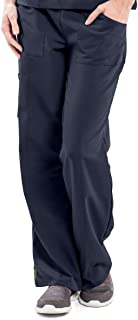 ave Women's Medical Scrub Pants, Pacific ave, Slimming Straight Leg Style Scrub Pant, Cargo Pockets, Great for Nurses, Navy, X-Large