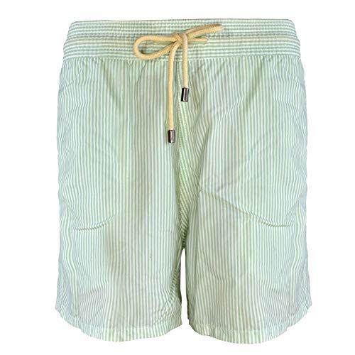 Solid & Striped Herren The Classic Badeshorts Aquamarin & Weiß - grün - X-Large