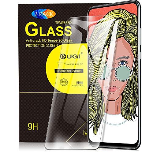 KuGi Panzerglasfolie Schutzfolie für Huawei P smart Z, Honor 9x Schutzfolie 9H Hartglas HD Glas Blasenfrei Displayschutzfolie passt für Huawei P smart Z / Huawei Y9 Prime 2019 Phone. Klar (2 PACK)