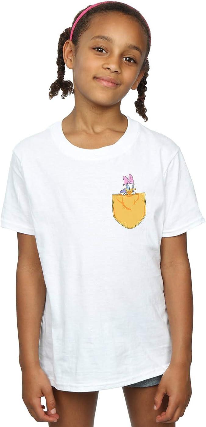 Disney Girls Daisy Duck Faux Pocket T-Shirt