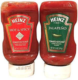 Heinz Ketchup Special Edition Variety 2 Pack of Jalapeno, & Hot & Spicy