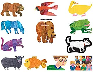 Little Folk Visuals Brown Bear Precut Flannel/Felt Board Figures for Toddlers, Kindergarteners, Interactive Teaching 14-Piece Set for Flannel Board Stories