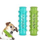 Tiopeia - 2 juguetes para masticar para perros, juguete de limpieza eficaz, juguete para masticar eficaz, juguetes de perro de molear, multifunción, cepillo de dientes de goma natural para perro