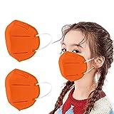 50 Piezas Niños_Protección Desechable Transpirables,5 Capas,96%, Prueba Elástico para Los Oídos,infantil Cómodo para Actividades al Aire Libre, Escuela, Fiesta (E)