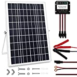 MEGSUN 30 Watt 12V Solar Panel Kit, Waterproof Solar Panel with Charge Controller and Adjustable Mount Brackets for Battery...
