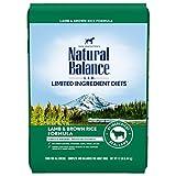 Natural Balance L.I.D. Limited Ingredient Diets Dry Dog Food, Lamb Meal & Brown Rice Formula, 12 Pounds