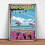 Oddss Retro Funny Bali Blechschild aus Metall,Suitable for