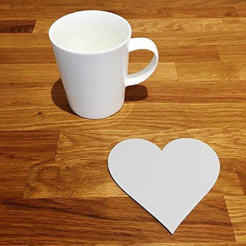 Ensemble de dessous de verre en forme de cœur., gris clair, Lot de 4