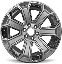 Road Ready Car Wheel For 15-18 Escalade Sierra Silverado 1500 Yukon Suburban Tahoe 22 Inch 6 Lug Alloy Rim Fits R22 Tire - Exact OEM Replacement - Full-Size Spare
