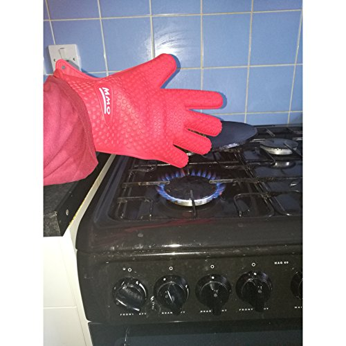 MMO/ Exquisite range Silicone BBQ Gloves/Mitts Extreme Heat Resistance, Use All Cooking, Frying, Smoking, Indoors Outdoors, Oven Baking Great Grip, Waterproof