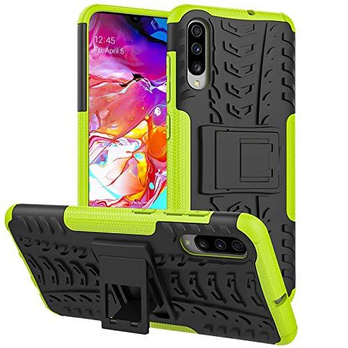 Preisvergleich Produktbild Conie OC52525 Outdoor Case Kompatibel mit Samsung Galaxy A70,  Defender robuste Schutzhülle Hülle extra Schutz für Galaxy A70 Hülle Grün