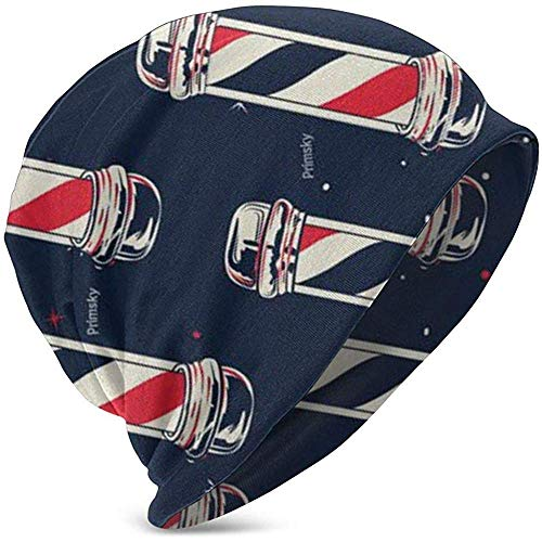 Marlon Kitty Vintage Barber Pole Flag Kinder warme Winter Hüte Polyester Manschette Beanie Cap