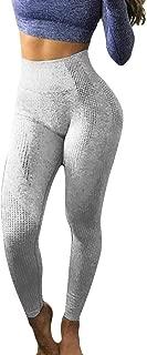 FKSESG Women Leggings Hip Seamless Jacquard Point High Waist Speed Dry Pants Fitness Yoga Pants