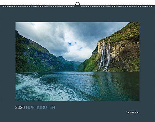 Hurtigruten 2020: Kalender 2020 (KUNTH Wandkalender Black Edition)