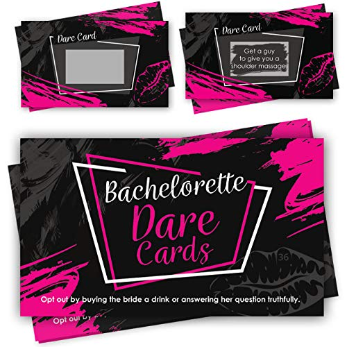 Bachelorette Party Scratch Off Dare Cards Games - 52 Funny & Naughty Dares Cards as Ultimate Bachelorette Party Supplies & Decorations