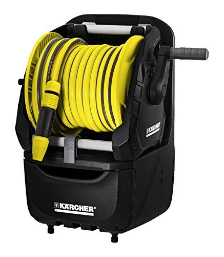 Kärcher Schlauchträger Premium HR 7.315 Kit 1/2 Zoll (Bewässerungsstation mit abnehmbarer Schlauchtrommel, Verstaubox, 15 m 1/2 Zoll PrimoFlex Schlauch, Wandhalterung)