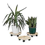 Relaxdays Pflanzenroller 3er Set