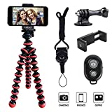 Phone Tripod, Linkcool Octopus Tripod with Wireless Remote Phone Holder Mount Use as iPhone Tripod, Cell Phone...