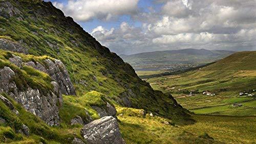 WXLSL Puzzle per Adulti 1000 Pezzi Puzzle in Legno Paesaggio della Valle nella Contea di Kerry, Irlanda per Adolescenti E Adulti, Ottimo Gioco Educativo