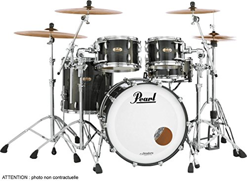 "Pearl Masters Maple 22"" Drum Kit Matte Caviar Black"