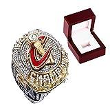 FGRGH Lebron James Memorabilia - Anillos del campeonato de Cleveland Cavaliers de baloncesto personalizados, réplica de anillos de diamante para hombres, con caja de 8