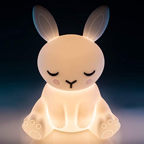 Lil' Dreamers RS-LTL_B Bunny Soft Touch Wireless LED Light with Rechargeable Battery Touch lamp