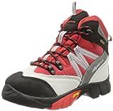 Alpina 680245 - Zapatos de senderismo de cuero infantil, Rot/Grau, 32