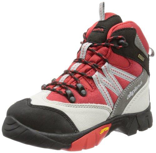 Alpina Unisex-Kinder 680245 Trekking- & Wanderstiefel, Rot (Rot/Grau), 35