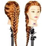 Neverland 26 Pouce Tête à coiffer 30% Cheveux Naturel Mannequin Tête Formation Coiffure avec Support Blond 66CM