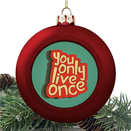 aosup Yolo Retro Inspirational/Christmas Ball Ornaments 2020 Christmas Pendant Personalized Creative Christmas Decorative Hanging Ornaments Christmas Tree Ornament №AM034992