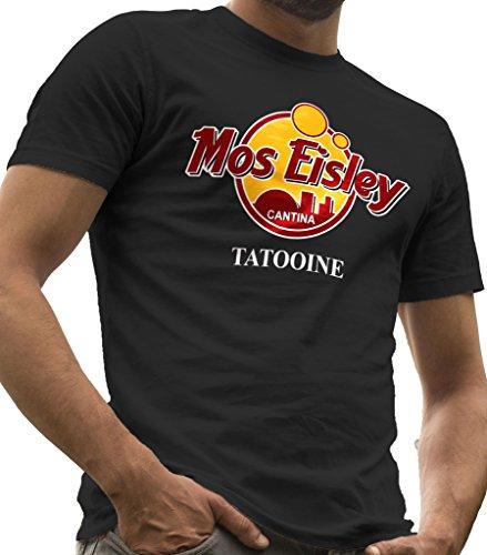 "LeRage Shirts Star Wars Herren-T-Shirt ""Mos Eisley Cantina Tatooine"", Herren, MOS-CANTINA-Guys-Large, Schwarz , L"