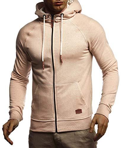 Leif Nelson heren sweatjas met capuchon slim fit katoenaandeel modern hoodie cardigan lange mouwen mannen zwart vrijetijds-capuchon jas voor winter zomer LN8124