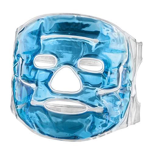 Feluna gel mascarilla de relajación mascarilla de bienestar terapia de frío refrescante mascarilla de gel ayuda con las quemaduras solares alergias migraña dolor de cabeza y relajación (Mascarilla)