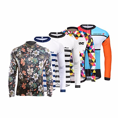 Camiseta de deporte para hombre de manga larga, colección otoño 2017 de Uglyfrog, camisetas de ciclismo de carretera, CXHB03, hombre, color A10, tamaño L